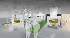 Architecture . LG Roadshow stand | Italy 2013. A project by OfficineMultiplo