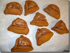 Gingerbread Hamantashen with chocolate filling... yummm