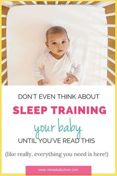 Don't even think about sleep training without reading this ultimate post.  Sleep training is taboo.  It may be the hardest things you ever have to do as a parent.  But, when you're an exhausted parent and hanging on by a thread and your baby won't nap for longer than 20 minutes and is up every hour.  This is when you may need to teach your baby independent sleep skills.  CLICK HERE TO READ MORE! #shortnaps #baby #sleep #babysleep #babysleeptips #sleeptips #sleepbabylove
