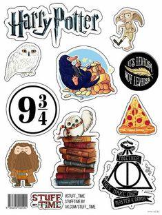 Harry Potter en Caricatura: Toppers para Tartas, Tortas, Pasteles, Bizcochos o Cakes para Imprimir Gratis.