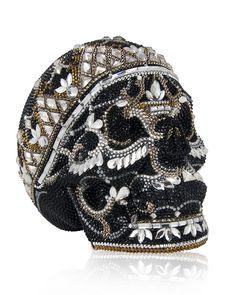 Judith Leiber Crystal Skull Clutch Bag