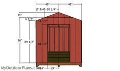 This step by step diy project is about cheap shed plans. This compact shed is a relatively roomy storage shed and it is optimized for you to build it fast and on a budget. 8x12 Shed Plans, Small Shed Plans, Free Shed Plans, Wooden Storage Sheds, Diy Storage Shed Plans, Wood Storage, Shed Frame, Backyard Sheds, Pergola Garden
