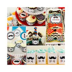 Karen R's Birthday / Mustache bash for a Birthday - Little Man Party at Catch My Party Little Man Party, Little Man Birthday, Baby Boy 1st Birthday, First Birthday Parties, Birthday Party Themes, First Birthdays, Birthday Ideas, Moustache Party, Mustache Birthday