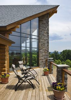 Exterior images of our milled log homes, timber frame homes, and handcrafted log homes. Log Homes Exterior, Ideas Hogar, Timber House, Log Cabin Homes, Deco Design, Cabins In The Woods, My Dream Home, Logs, Future House