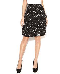 INC polka dot ruffled skirt at Macy's $59.50