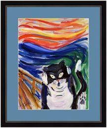 Kitty Scream Framed Posters