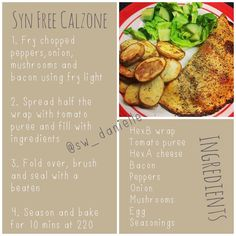 Recipe as promised for syn free calzone 🍕🍕🍕 #hexA #hexB #synfree #swcalzone #slimmingworld #slimmingworlduk #sw #swuk #swfood #swlove…