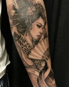 Geisha tattoo meaning: history, features of the picture . Geisha Tattoos, Geisha Tattoo Design, Forearm Tattoo Design, Forearm Tattoos, Irezumi Tattoos, Geisha Tattoo Sleeve, Japanese Girl Tattoo, Japanese Tattoo Designs, Japanese Sleeve Tattoos