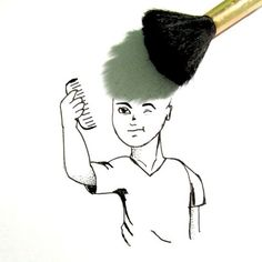 Buscando un nuevo peinado  #shadowfonz . . #peine #makeup  #cabello  #paper #pincel #loock #estilo #higiene #doodles #ideias  #pencil  #lima #peru #photo #art_help #comedia #artworld #sketching #shadow #idea_in_picture #objectart #shadowart #illustration  #creative #creatividad  #makeba #drawing2me http://misstagram.com/ipost/1541099491082894165/?code=BVjFdJxh_tV