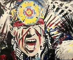 """ Warriors Call"", Original Acrylic Painting Stretched Canvas Art 