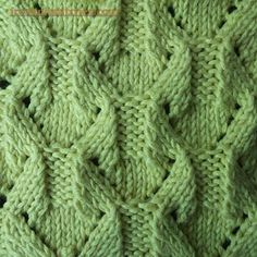 Diamond Shape knitting stitches