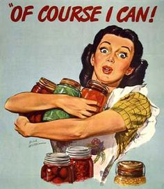 Vintage / Retro Sign Old Style wall decor Reproduction Print Poster Nr Of Course I Can ! Canning Tips, Home Canning, Canning Recipes, Canning Process, Canning Labels, Food Labels, Modern Houses, Modern House Design, Pin Up