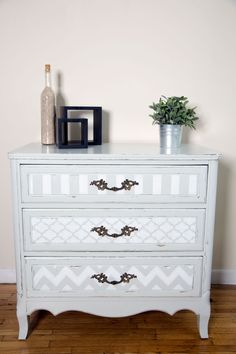 Shabby chic hand painted dresser by junescollection on Etsy
