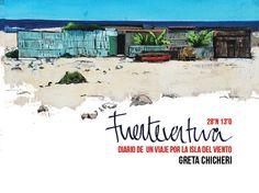 Libro ilustrado sobre la isla de by ArtFuerteventura on Etsy, €15.00