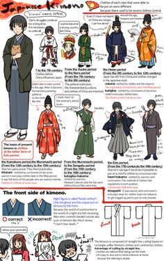 "fuckyeahshittyhetaliaocs: "" sinousine: "" Japanese kimono by ~marihaya "" More Japanese clothing references, because people still don't seem to get it right. "" <<Educate yourselves everyone! Even if you're not in the Hetalia fandom! Japanese Words, Japanese Art, Japanese History, Japanese Geisha, Modern History, Japanese Outfits, Japanese Fashion, Asian Fashion, Samurai"
