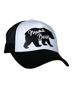 Love this Katydid Collection Black  amp  White  Mama Bear  Trucker Hat by  Katydid 69c26c7c8b51