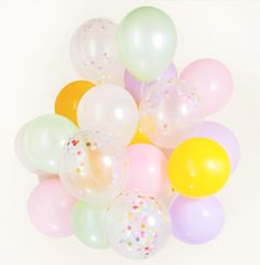 Pastel & Ice Cream Confetti balloon Bouquet - set of 14 or 20, candy, birthday party :-) - AU free shipping