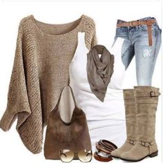 Poncho, jeans, tank top, boots and accessories Women's Jeans - http://amzn.to/2i8XN7s