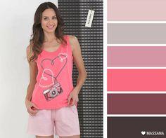 MASSANA Pink palette! #palette #Massana #homewear #pink #rosa #mujer #pijama