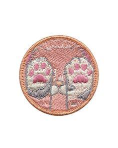 Cat Paws Patch Peach