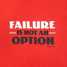Gildan Men's Size XL Red Short Sleeve Failure is not an Option Graphic T-shirt #Gildan #GraphicTee