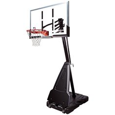 The Spalding NBA Acrylic Portable Basketball System features a steel pole and board frame for long-lasting durability. Perfect for any size player, the easy-to-use screw jack lift system allows for easy height adjustment. Basketball Systems, Basketball Equipment, Basketball Tricks, Basketball Goals, Basketball Court, Basketball Shoes, Cyo Basketball, Houston Basketball, Street Basketball