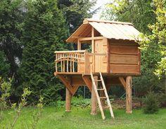 Spielhaus Kuckuck: Baumhaus für Kinder von www.almhuette-naturholzbau.de