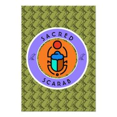 Sacred Scarab Card - invitations personalize custom special event invitation idea style party card cards