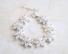 Wedding Jewelry Bridal Bracelet Marquis Cubic Zirconia CZ  Rhinestone Silver Bracelet