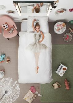 BALLERINA DUVET COVER    Are you ready for standing ovations in your bedroom? For this duvet cover we collaborated with the Dutch National Ballet, considered to be one of the top 5 ballet companies in the world. Not only did they lend us one of their talented ballerina's, but also one of their amazing handmade tutus. Plié, yawn and stretch.