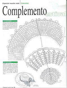 """Mis Pasatiempos Amo el Crochet: Colección especial en ganchillo : """"Paraguas,capelinas y abanicos"""""""