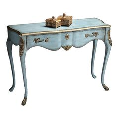 Painting my desk! Its larger but otherwise a match. Def a DO! I pinned this Lieutenant Console Table from the Look: Serene event at Joss and Main!