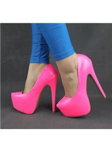 Cool Show Candy Color Patent Leather Stiletto Heels