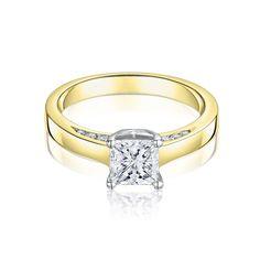 Sarah Yellow Gold 0.70ct Diamond Engagement Ring - Jewellery - Laing Edinburgh