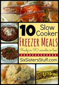 Six Sisters' Stuff: 10 Slow Cooker Freezer Meals In Less Than 90 Minutes! @Rachel Nielson - They Have Two Posts Like This.  We Should Try Doing All Of These Together Soon!