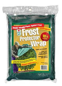 Easy Gardener Plant Protection Large Reusable Frost Blanket Wrap With Cinch Cord, Diameter 10 feet Landscape Fabric, Landscape Edging, Plant Covers, Tree Care, Gardening Supplies, Lawn Care, Lawn And Garden, Outdoor Gardens, Frost