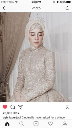 Muslim Wedding Gown, Muslimah Wedding Dress, Muslim Wedding Dresses, Muslim Brides, Wedding Gowns, Bridal Hijab, Hijab Bride, Wedding Hijab Styles, Dress Pesta