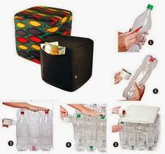 Ottoman Made From Plastic Bottles (Instructions in Spanish)