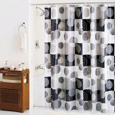 Black Bathroom Accessories Walmart Blackbathroomaccessories Black Shower Curtains Shower Curtains Walmart