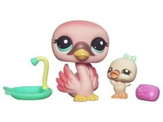 Littlest Pet Shop Cutest Pets Series 1 Figures Mommy Baby Swan