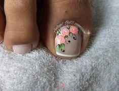 Pedicure Nail Art, Nail Designs, Nail Bling, Work Nails, Toe Nail Art, Pretty Toe Nails, Simple Toe Nails, Nail Desings, Nail Design