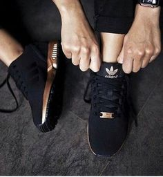 shoes blac gold adidas zx flux adidas xz flux rose gold and blackk