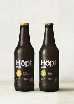 Inhouse | Höpt Soda Session Ale, Types Of Gemstones, Packaging Design Inspiration, Identity Design, Craft Beer, Beer Bottle, Soda, Graphic Design, Drinks