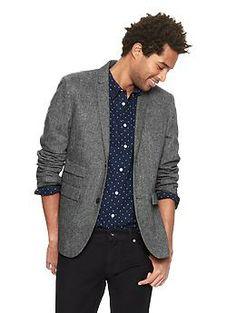 Gap x GQ Bespoken Shrunken Tweed Blazer | Gap