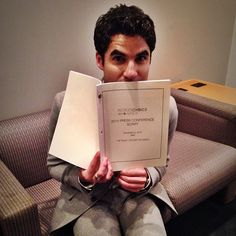 "peopleschoice: ""@Darren Criss is in the green room getting ready for the #peopleschoice press conference."""