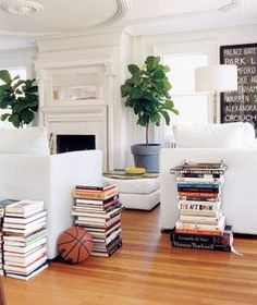 10 Beautiful Ways to Decorate with Books at This is Alli