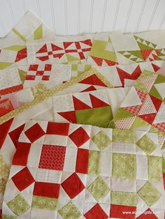 Quilt blocks made by A Quilting Life from Fig Tree