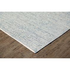 Ridgeview Ranch Hand-Woven Pale Blue/White Area Rug | Wayfair