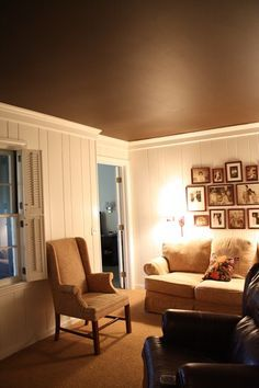living room ceiling colors. Pool table room  Paint ceiling the wall color inset Leave insets sides white to accent that way Pinterest Foyer colors