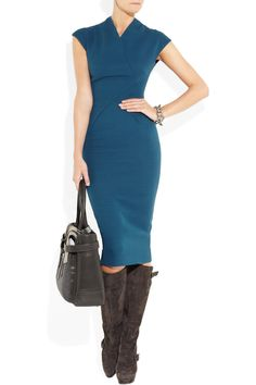 VICTORIA BECKHAM  100 silk and wool-blend double-crepe dress  £1,187.50 (VB's 100th design)
